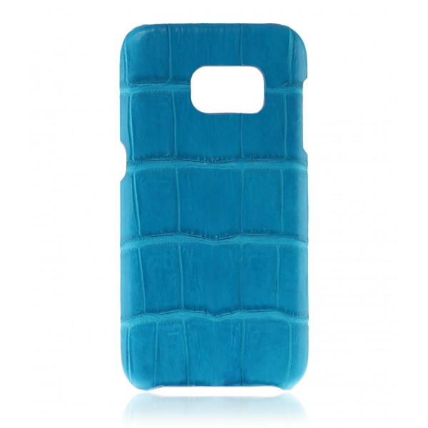 2 ME Style - Cover Croco Aqua Blue - Samsung S7 Edge