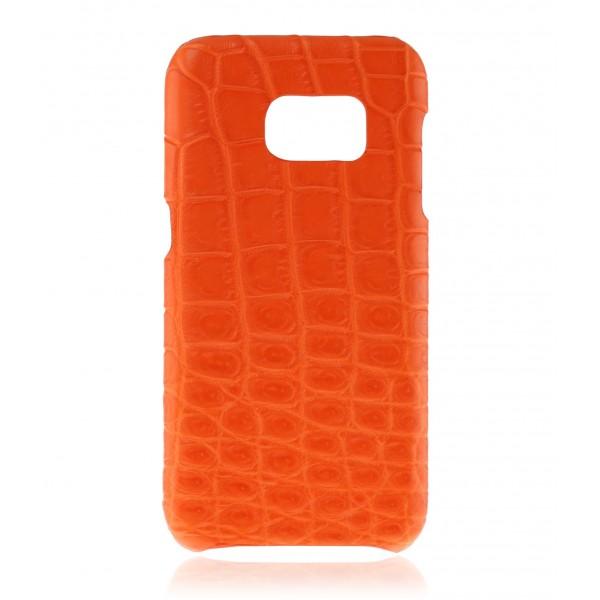 2 ME Style - Cover Croco Tangerine - Samsung S7 Edge