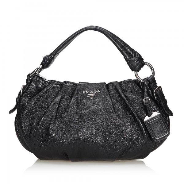 Prada Vintage Leather Shoulder Bag