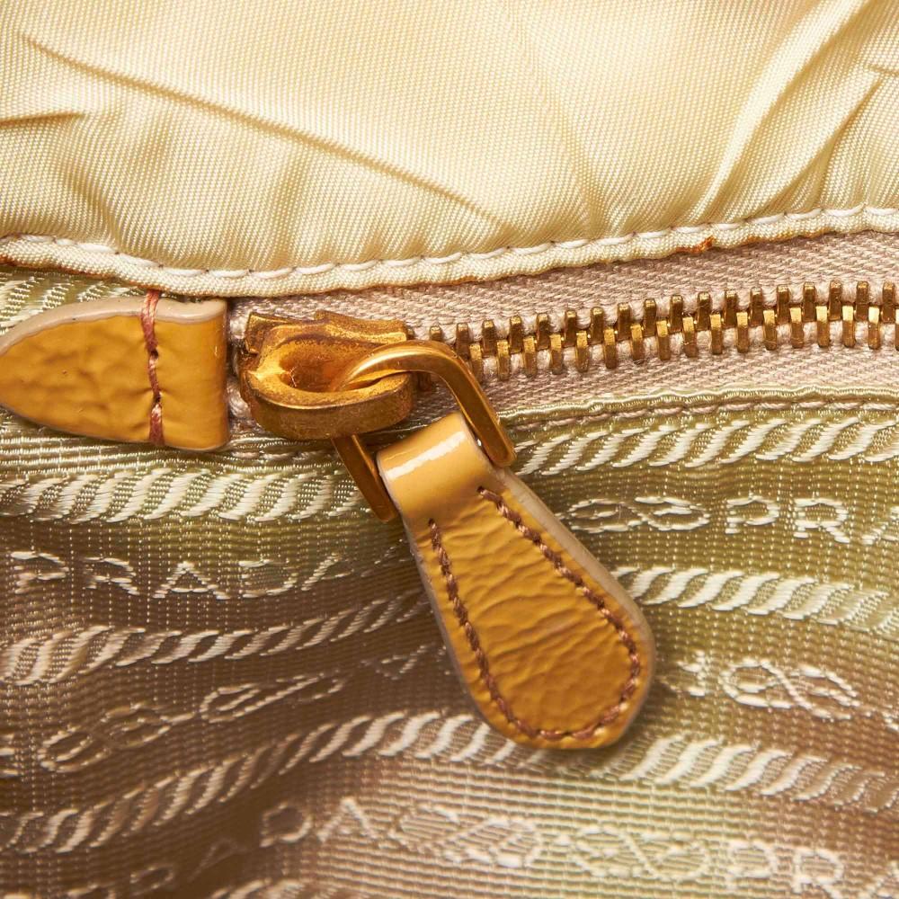 Prada Vintage Quilted Nylon Satchel Bag White Ivory