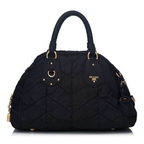 Prada Vintage - Nylon Tessuto Travel Bag - Nero - Borsa in Pelle - Alta Qualità Luxury