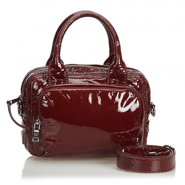 Prada Vintage - Patent Leather Satchel Bag - Rossa - Borsa in Pelle - Alta Qualità Luxury