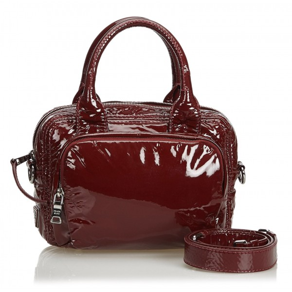 726a77b3b28 Prada Vintage - Patent Leather Satchel Bag - Red - Leather Handbag - Luxury  High Quality