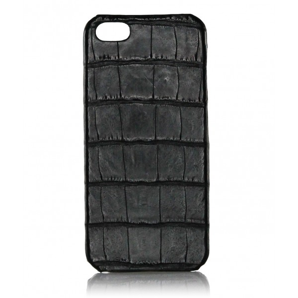 2 ME Style - Cover Croco Nero - iPhone 5/SE