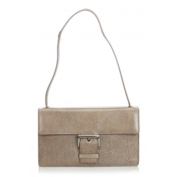d5299adb841c Prada Vintage - Leather Baguette Bag - Grey - Leather Handbag - Luxury High  Quality - Avvenice