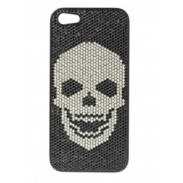 2 ME Style - Case Swarovski Skull Black Diamond - iPhone 5/SE