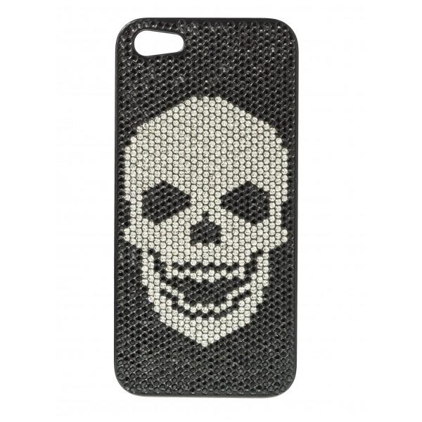 2 ME Style - Case Swarovski Skull Black Diamond - iPhone 5/SE