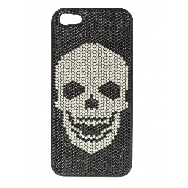 2 ME Style - Cover Swarovski Skull Black Diamond - iPhone 5/SE