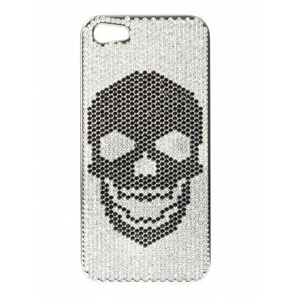 2 ME Style - Case Swarovski Skull Total Black - iPhone 5/SE
