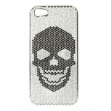 2 ME Style - Cover Swarovski Skull Total Black - iPhone 5/SE