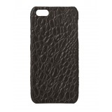 2 ME Style - Cover Croco Print Nero - iPhone 5/SE