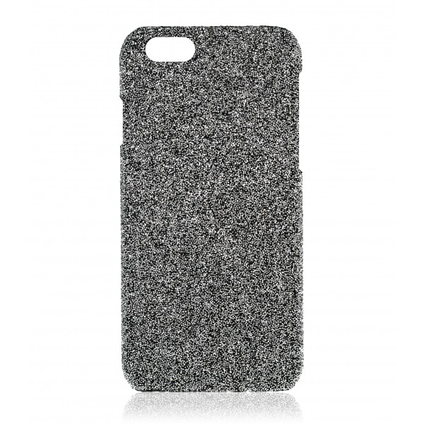 2 ME Style - Cover Crystal Fabric Argento - iPhone 5/SE