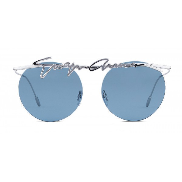 859f5f9ef923 Giorgio Armani - Signature - Metal Round Frame Sunglasses - Silver -  Sunglasses - Giorgio Armani