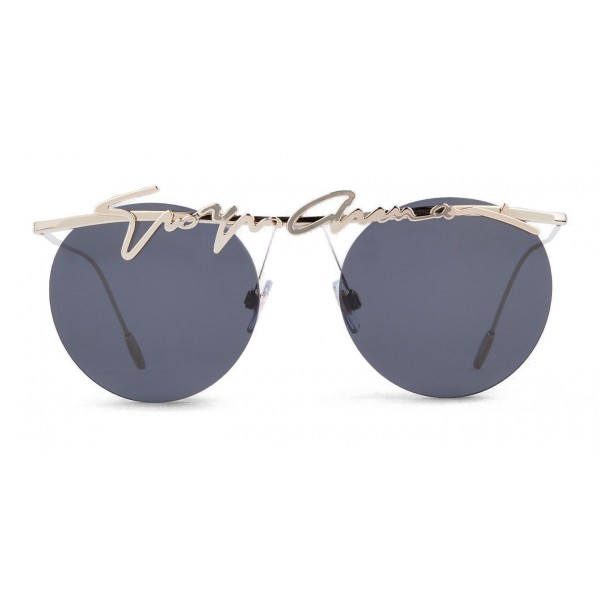 83e271db71e44 Giorgio Armani - Signature - Metal Round Frame Sunglasses - Gold -  Sunglasses - Giorgio Armani