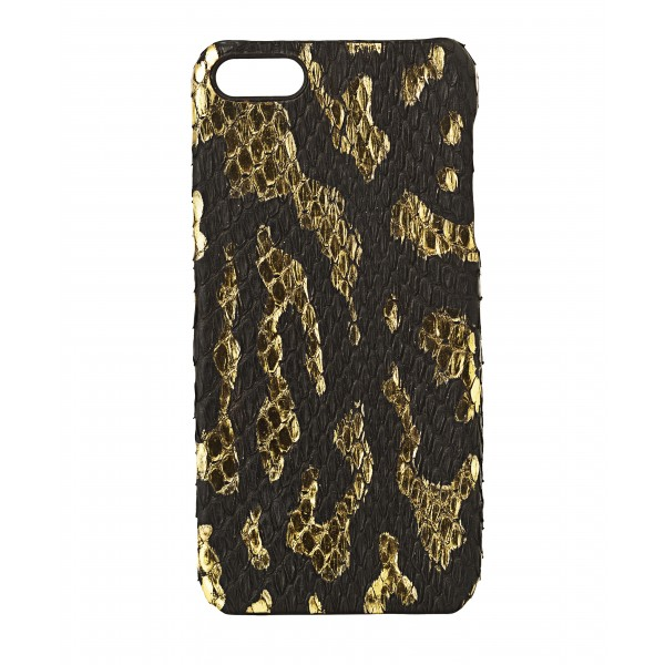 2 ME Style - Cover Pitone Nero e Oro - iPhone 5/SE
