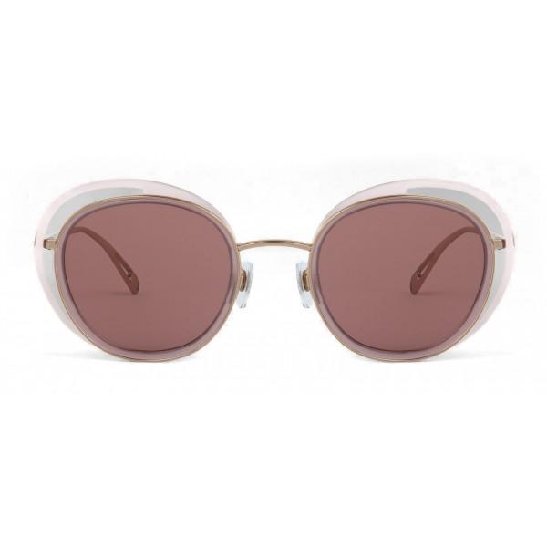 1a860d573eb8 Giorgio Armani - Open Lenses Round Frame Sunglasses - Silver - Sunglasses - Giorgio  Armani Eyewear