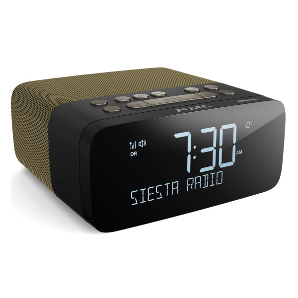 Pure - Siesta Rise S - Gold - Bedside DAB+/FM Alarm Clock Radio with  Bluetooth - High Quality Digital Radio