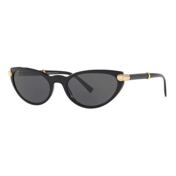 Versace - V-Rock Cat Eye Sunglasses - Black - Sunglasses - Versace Eyewear