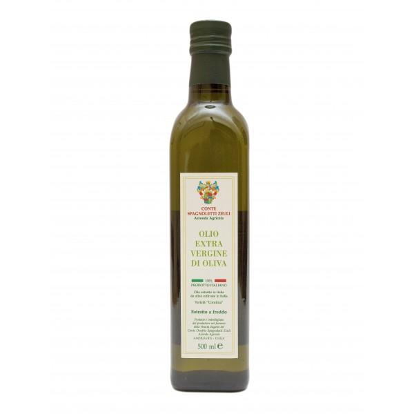 Conte Spagnoletti Zeuli - Olio Extravergine di Oliva D.O.P. - 500 ml - Fruttato Intenso