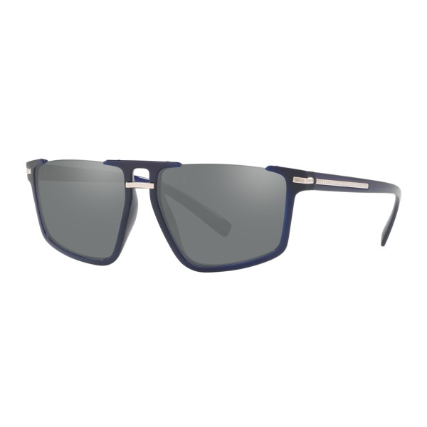 Versace - Occhiale da Sole Greca Aegis - Blu Navy - Occhiali da Sole - Versace Eyewear