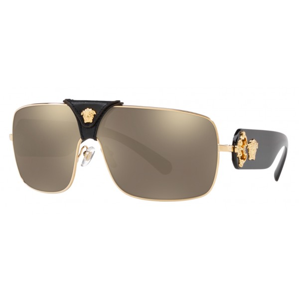 Versace - Baroque Sunglasses - Black & Gold - Sunglasses - Versace Eyewear