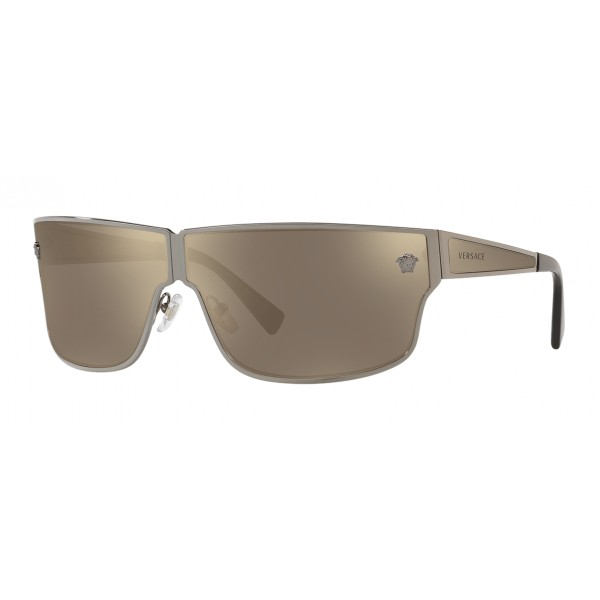 Versace - Occhiale da Sole Medusa Aspis - Argento - Occhiali da Sole - Versace Eyewear
