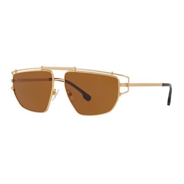 Versace - Medusa Greek Wire Sunglasses - Brown - Sunglasses - Versace Eyewear