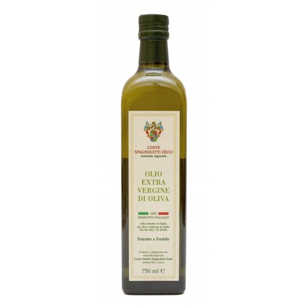 Conte Spagnoletti Zeuli - Olio Extravergine di Oliva D.O.P. - 750 ml - Fruttato Intenso