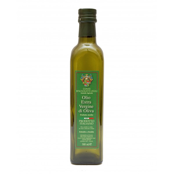 Conte Spagnoletti Zeuli - Olio Extravergine di Oliva D.O.P. - 500 ml - Fruttato Medio