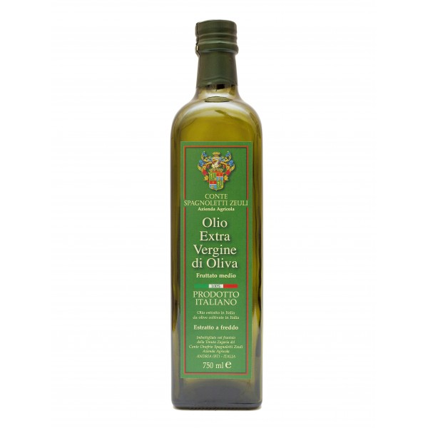 Conte Spagnoletti Zeuli - Olio Extravergine di Oliva D.O.P. - 750 ml - Fruttato Medio