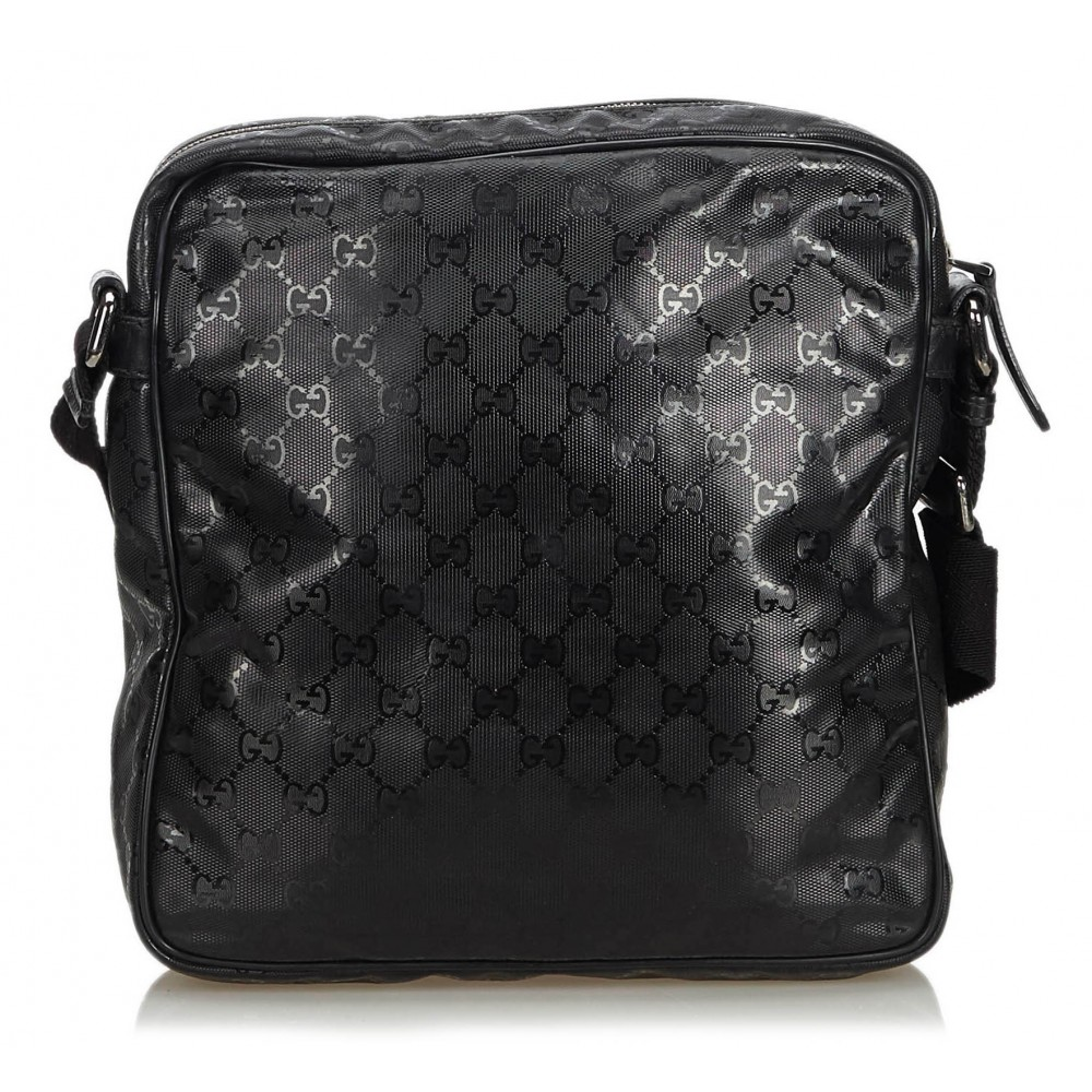 a2a13b330cc0 ... Gucci Vintage - GG Imprime Messenger Bag - Black - Leather Handbag - Luxury  High Quality ...
