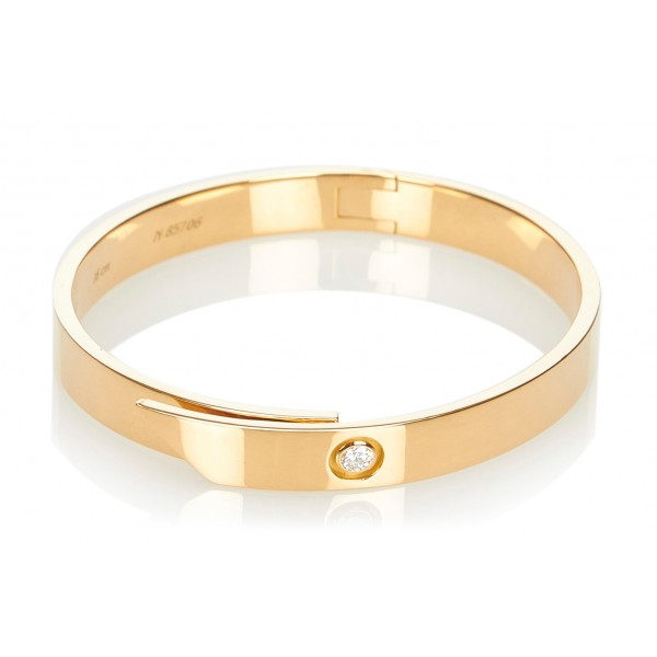 Cartier Vintage - Anniversary Bangle - Cartier Bangle in Yellow Gold and Diamonds - Luxury High Quality