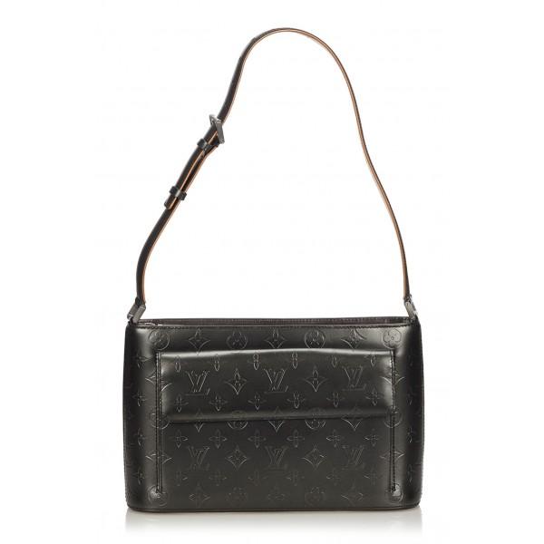 Louis Vuitton Vintage - Monogram Mat Alston Bag - Black - Vernis Leather Handbag - Luxury High Quality