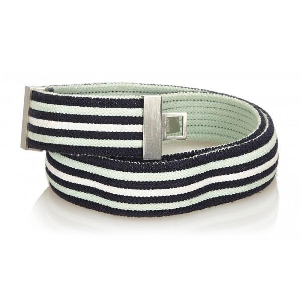 Hermès Vintage - Cotton Belt - Blue Navy White - Cotton Belt - Luxury High Quality