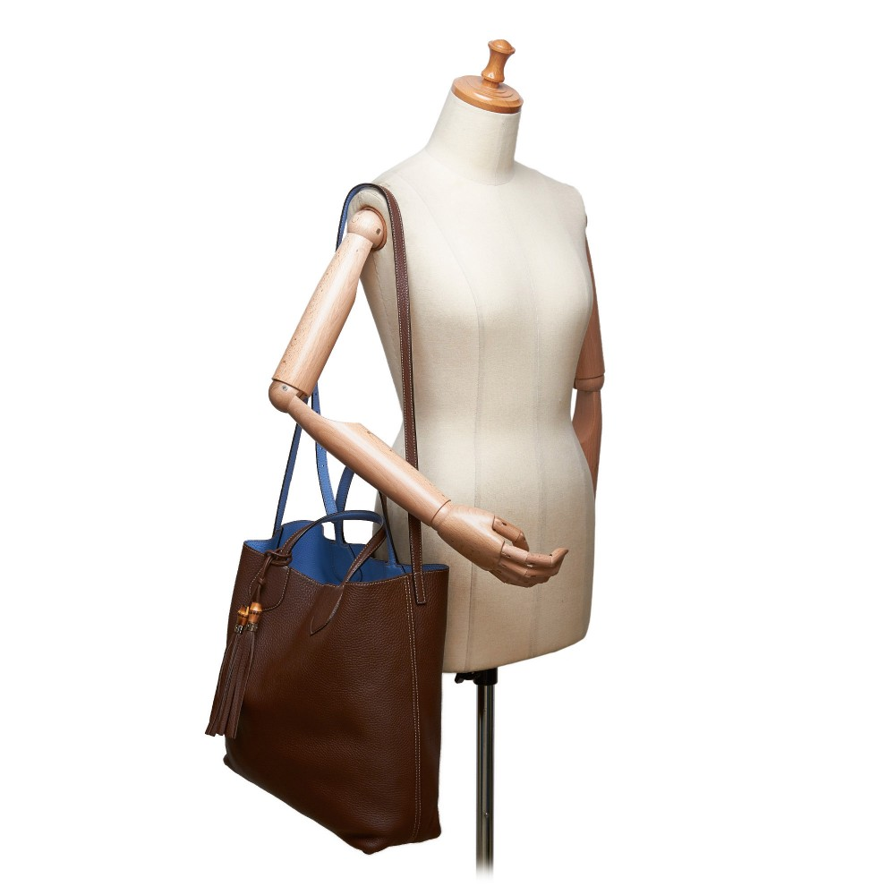 f31eaf4180d4 ... Gucci Vintage - Ramble Reversible Satchel Bag - Brown - Leather Handbag  - Luxury High Quality ...