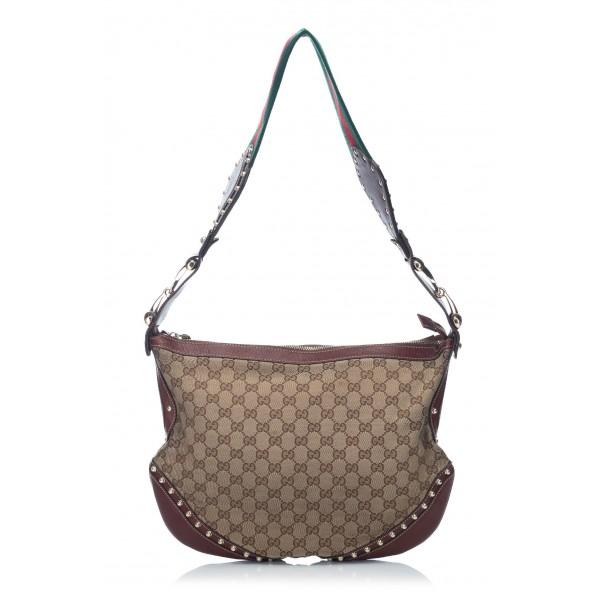 589105ea67a8 Gucci Vintage - Large Guccissima Pelham Studded Messenger Bag - Brown -  Leather Handbag - Luxury High Quality - Avvenice