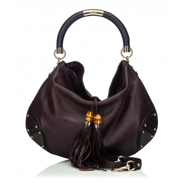 c1a2f93ef3d Gucci Vintage - Leather Indy Satchel Bag - Black - Leather Handbag - Luxury  High Quality - Avvenice