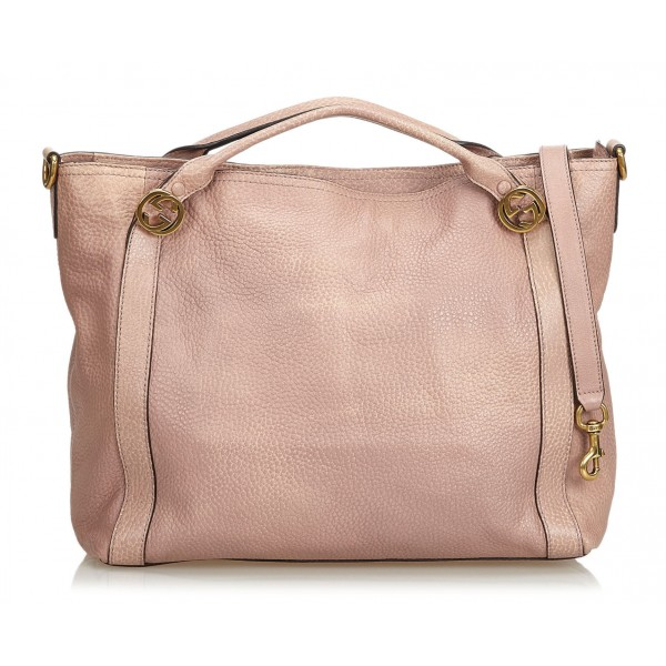 get cheap special discount pretty nice Gucci Vintage - Leather Bree Satchel Bag - Pink - Leather Handbag - Luxury  High Quality