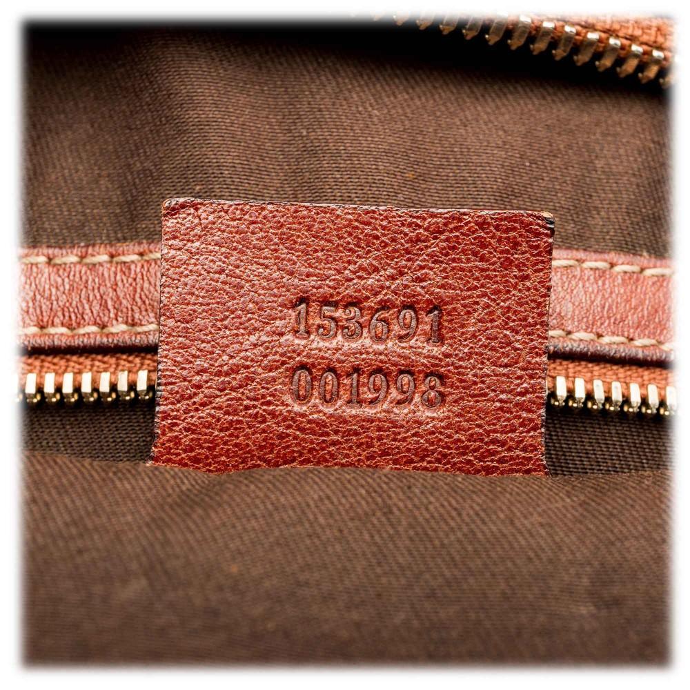 000d3ef887e287 ... Gucci Vintage - Large Guccissima Pelham Studded Messenger Bag - Brown - Leather  Handbag - Luxury ...