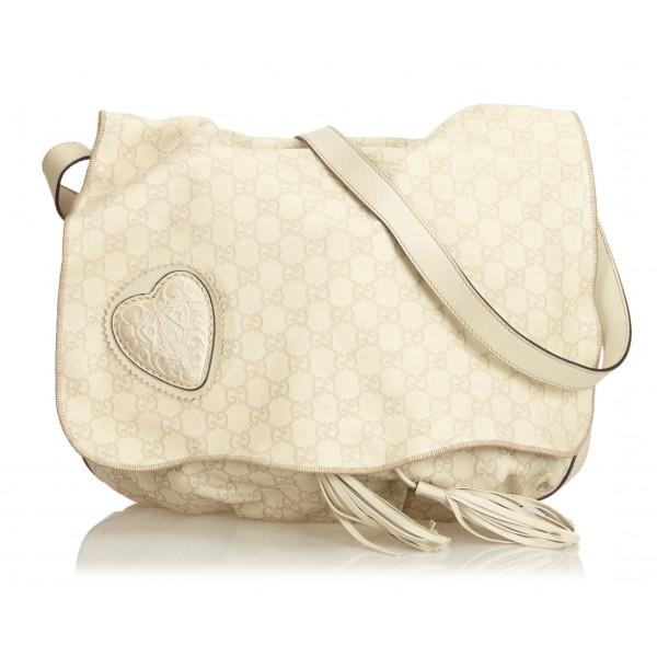 5e481ccd3c27 Gucci Vintage - Guccissima Leather Tribeca Messenger Bag - White - Leather  Handbag - Luxury High Quality - Avvenice