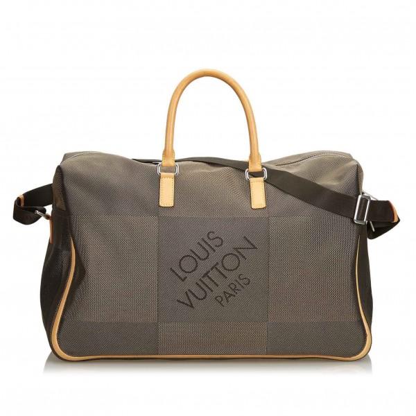 Louis Vuitton Vintage - Damier Geant Souverain Bag - Marrone - Borsa in Pelle e Tela Damier - Alta Qualità Luxury