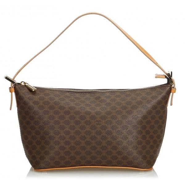 Céline Vintage - Macadam Canvas Baguette Bag - Brown - Leather Handbag - Luxury High Quality