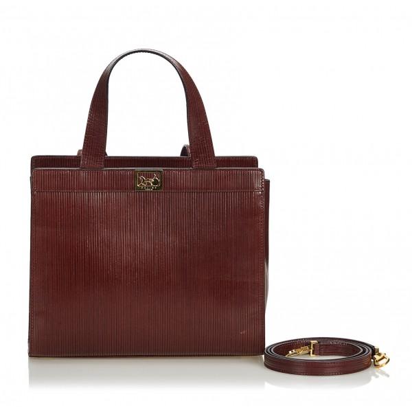 Céline Vintage - Vintage Leather Satchel Bag - Brown - Leather Handbag - Luxury High Quality