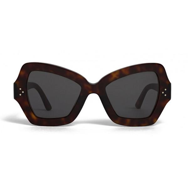 Céline - Occhiali da Sole a Farfalla in Acetato - Rosso Havana - Occhiali da Sole - Céline Eyewear