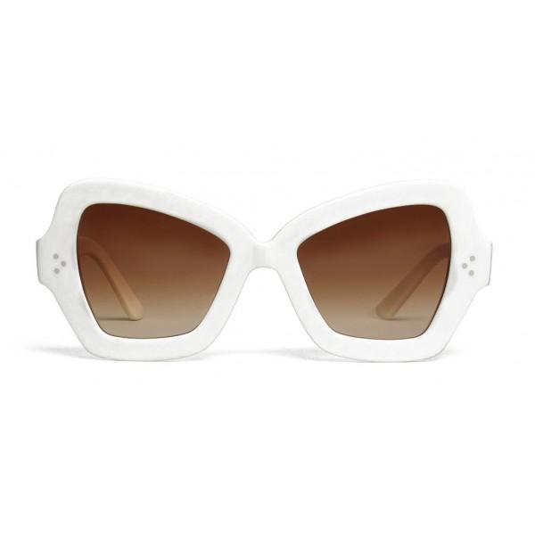 Céline - Occhiali da Sole a Farfalla in Acetato - Bianco Ottico - Occhiali da Sole - Céline Eyewear