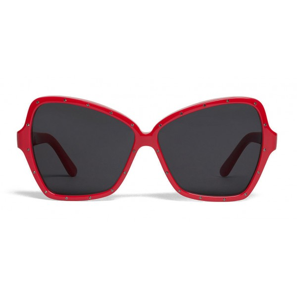 Céline - Butterfly Sunglasses in Acetate and Crystals - Red - Sunglasses - Céline Eyewear
