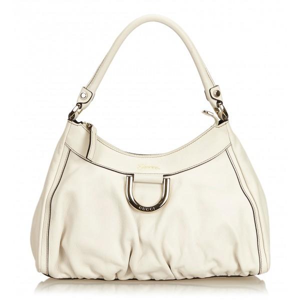86efa88c8d5 Gucci Vintage - Guccissima Leather D-Ring Shoulder Bag - White - Leather  Handbag - Luxury High Quality - Avvenice