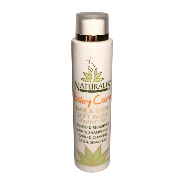 Naturalis - Natura & Benessere - Baby Care - Hair & Body Soft Wash - Cura del Bambino - Delicato Capelli e Corpo Bio - Aloe Vera