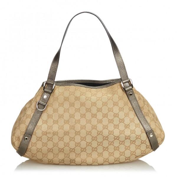 f972d5f96ea Gucci Vintage - GG Jacquard Pelham Tote Bag - Brown - Leather Handbag -  Luxury High Quality - Avvenice