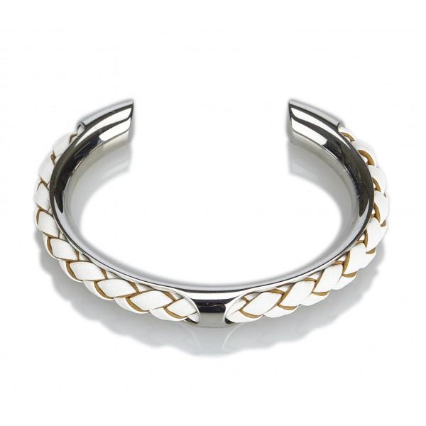 Hermès Vintage - Kyoto Tresse Cuff - Silver - Metal Bracelet - Luxury High Quality